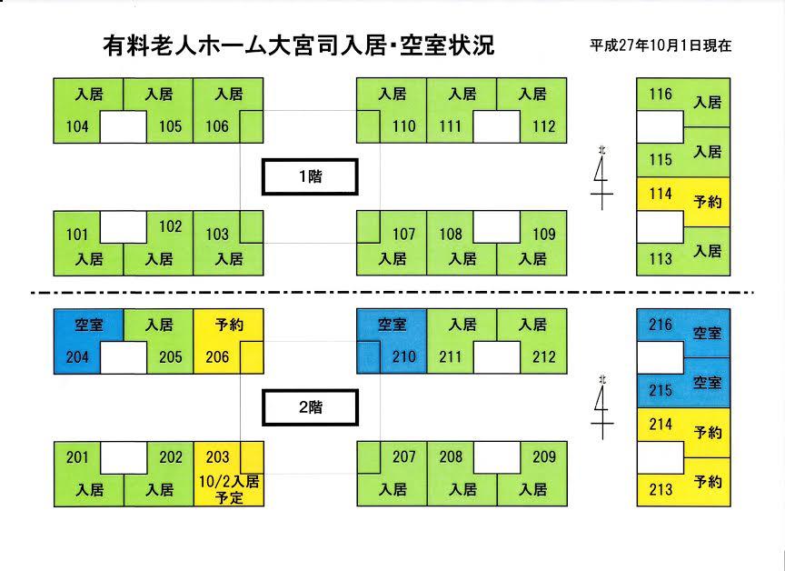 広報誌NEWSと有料老人ホームの空室状況報告(老人ホーム大宮司)2
