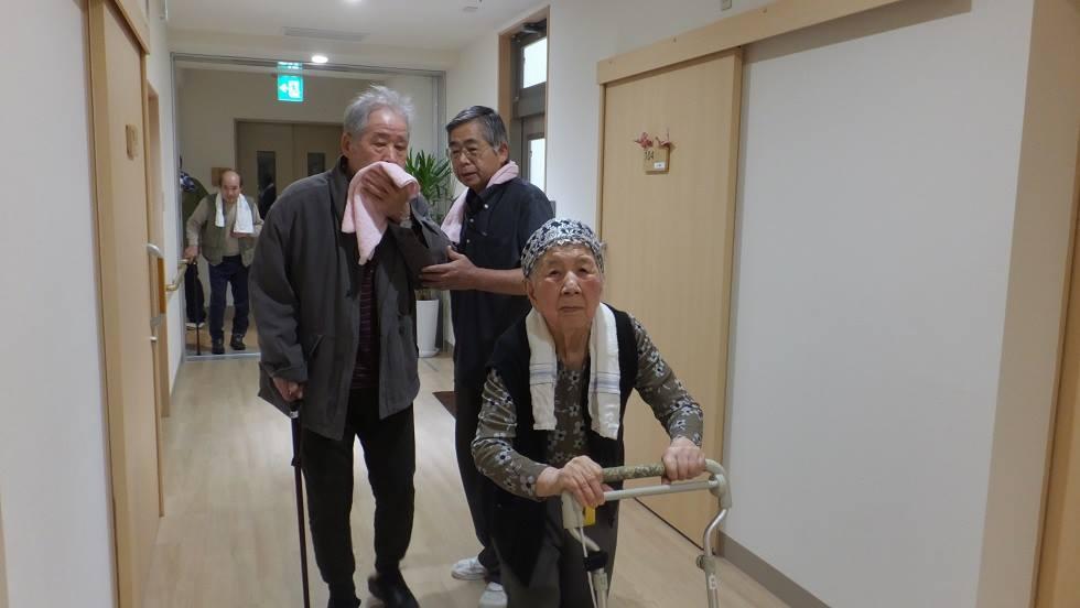 3月行事 防災避難訓練(老人ホーム大宮司)1
