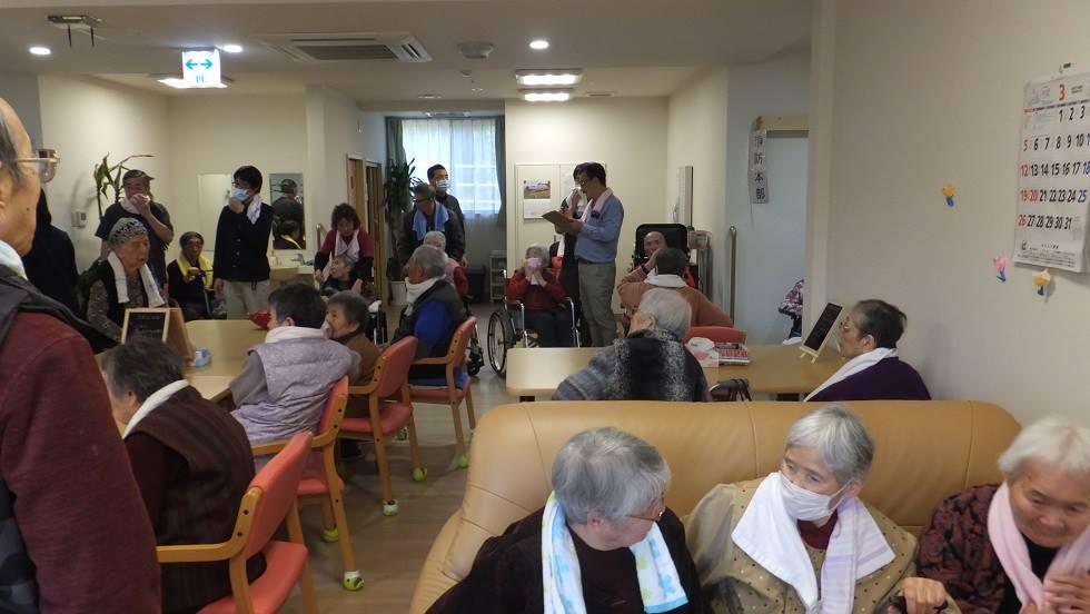 3月行事 防災避難訓練(老人ホーム大宮司)2