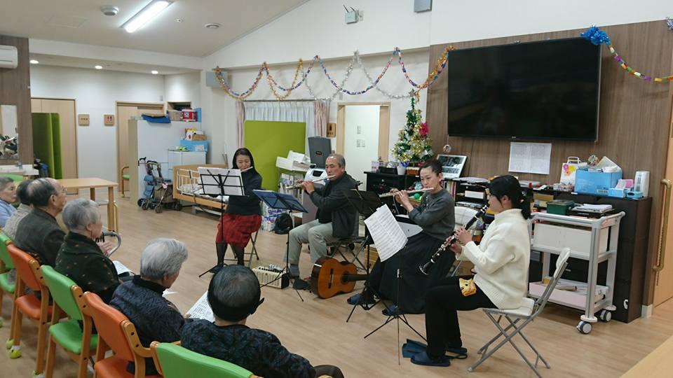 クリスマス演奏会(老人ホーム大宮司)2