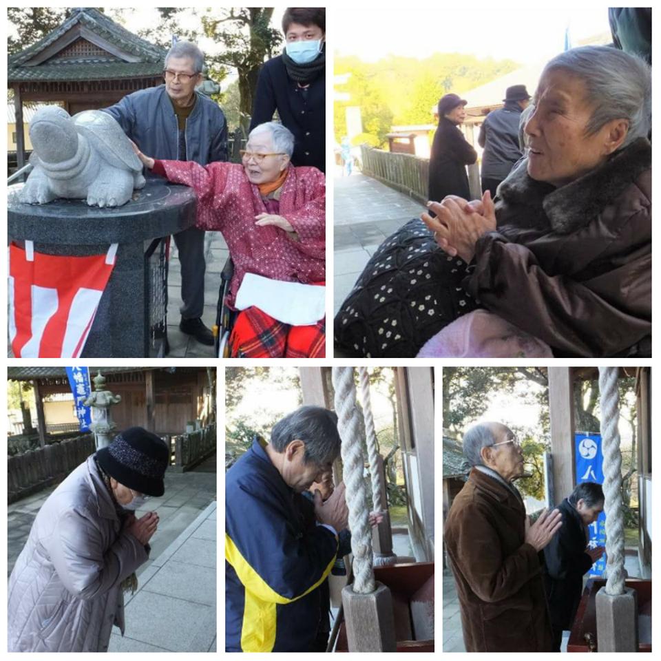 内竈神社へ初詣(老人ホーム大宮司)1
