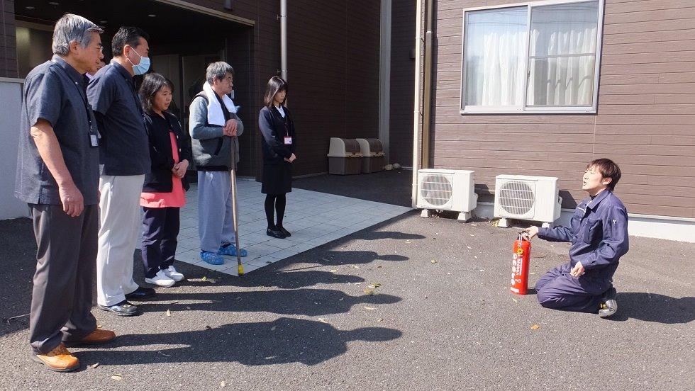 3月行事 防災避難訓練(老人ホーム大宮司)3