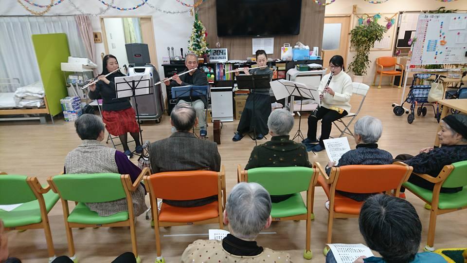クリスマス演奏会(老人ホーム大宮司)1