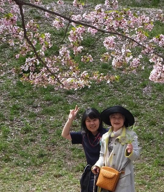 お花見(老人ホーム大宮司)1